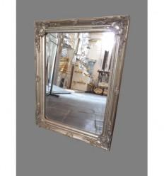 espejo marco plateado