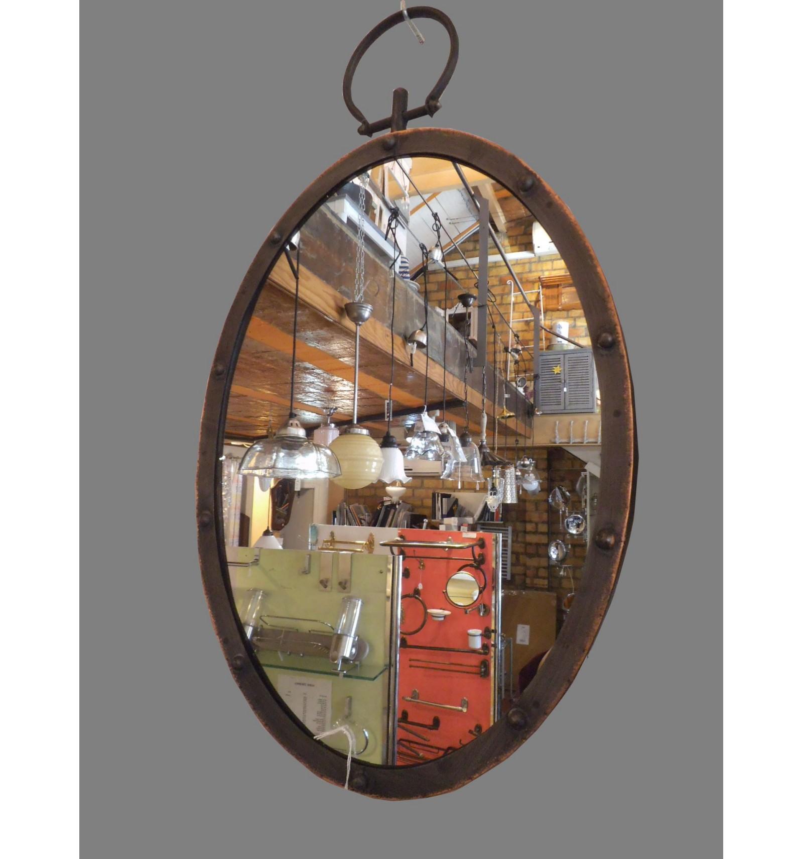 Espejo anilla ovalado for Espejo ovalado