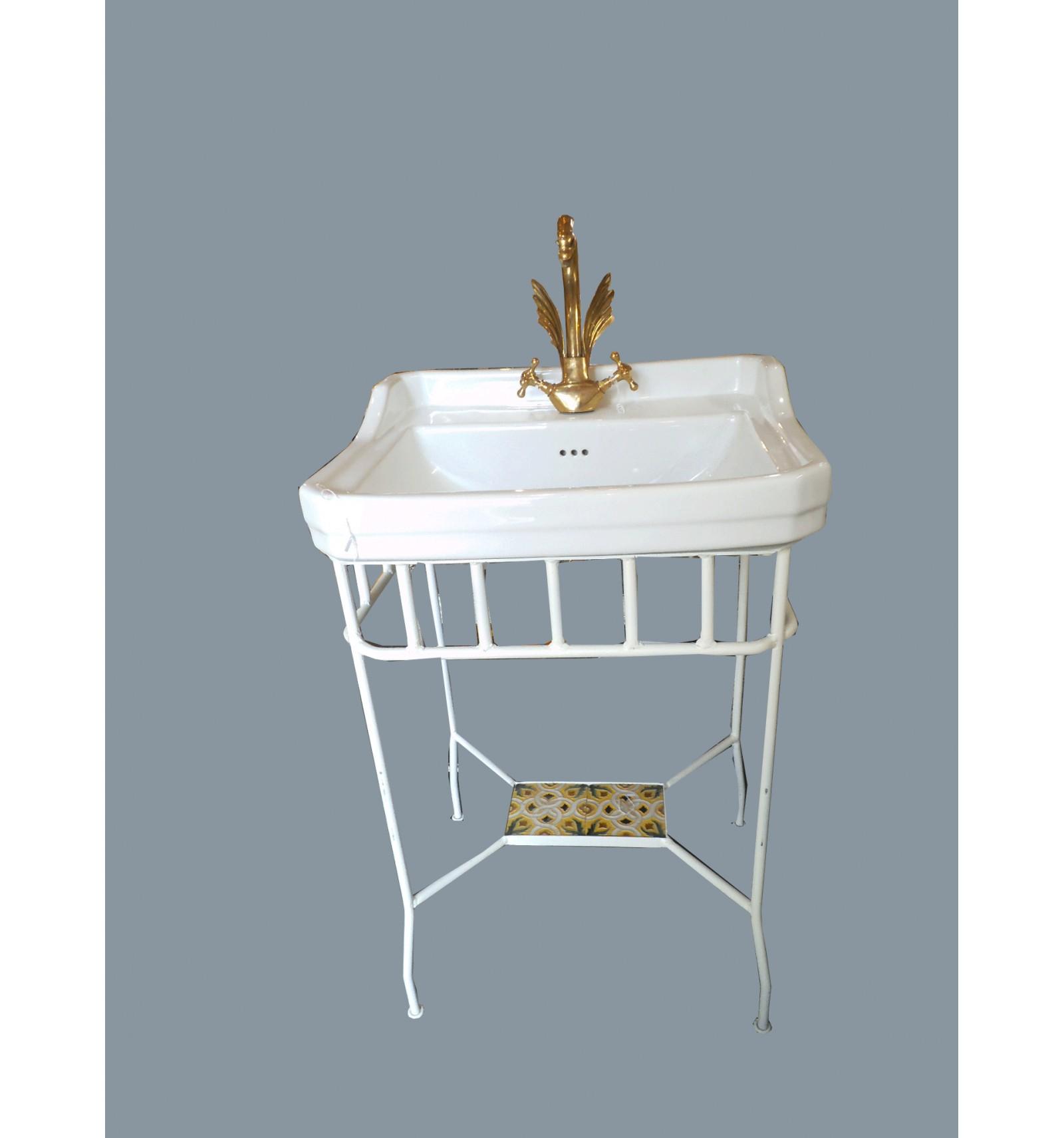 Lavabo gold plaza y soportes for Conjunto mueble lavabo